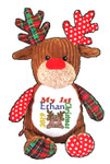 Brown Harlequin Reindeer Christmas design