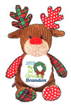 Christmas Brown Harlequin Reindeer Cubby