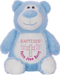 Personalised Christening Cubby Blue Bear