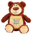 Christening Cubby Brown Bear Cubby