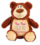 Brown Bear with personalised christening design
