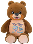 Signature Brown  Bear with personalised christening design