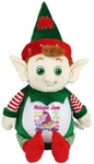 Personalised Green Elf teddy bear Birth Designs