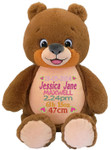 Personalised Birth Designs on a Signature Bear Cubby