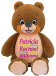 Personalised birth details on a Signature Bear Cubby