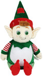 Personalised Message Bear - Green Elf