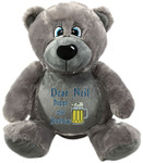 Personalised gift Message Bear - Bebi Beau Grey Bear