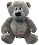 Personalised Message Bear - Bebi Beau Grey Bear gift