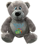 Personalised Message gift Bear - Bebi Beau Grey Bear