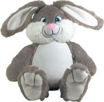 Personalised Message Bear - Bebi Beau Grey Bunny
