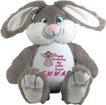 Personalised Message Bear - Bebi Beau Grey Bunny gift