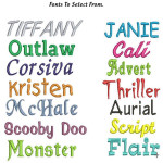 Personalised Message Bunny - Bebi Beau Blue , select a font