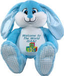 Personalised  Bebi Beau Blue Message Bunny gift