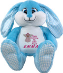 Personalised  gift Bebi Beau Blue Message Bunny
