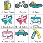 Personalised Motif - Bebi Beau Car