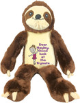 Personalised Message Bear gift - Bebi Beau Sloth
