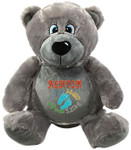 Personalised gift Grey Bebi Beau Bear Birth Designs