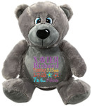 gift Personalised Grey Bebi Beau Bear Birth Designs