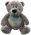 Personalised Grey Bebi Beau Bear Birth gift Designs