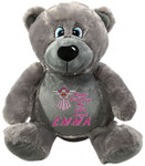 Personalised Grey Bebi Beau gift Bear Birth Designs