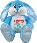 Personalised Blue Bebi Beau Bunny gift Birth Designs