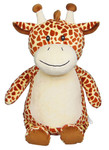 Personalised Cubby –  Giraffe with a personalised teddy bear message