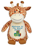 Personalised Message Bear - New Giraffe Hug-Me Cubby