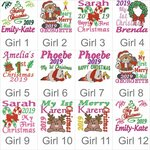 Girls Christmas design choices for the Rainbow Unicorn Bebi Beau