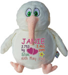 gift Personalised White Kiwi Birth Designs