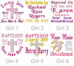 Christening Kijawii Rainbow Unicorn girl's designs