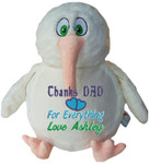 gift Message Bear - Personalised White Kiwi