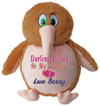 gift Message Bear - Personalised Brown Kiwi