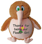 Message Bear - gift Personalised Brown Kiwi
