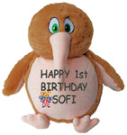 Message gift Bear - Personalised Brown Kiwi
