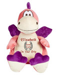 Personalised Message Bear - New Pink Dragon Hug-Me Cubby