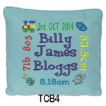 personalised Blue cushion cover will last for ages
