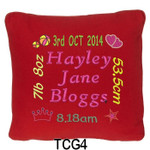 girl's personalised Red cushion cover will last for ages