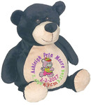 Personalised Embroider Buddy - Bear Black (Birth Design)