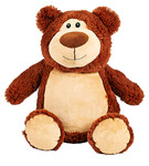 personalised Brown Bear Cubby with birth details