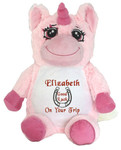 Personalised Message Bear - Pink Unicorn Snugabudz