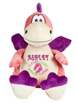Personalised Hug-Me Cubby - Dragon Pink (Birth Design)