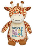 Personalised Hug-Me Cubby - Giraffe (Birth Design)