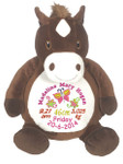 Personalised Embroider Buddy - Horse (Birth Design)
