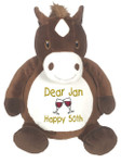 Personalised Message Bear - Horse Embroider Buddy