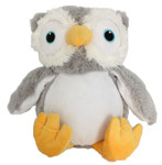 Personalised Snugabudz – Owl with a personalised teddy bear message