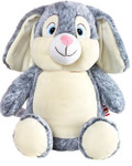 Personalised Hug-Me Cubby - Large Rabbit with a personalised teddy bear message
