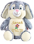 Personalised Message Bear - Large Rabbit Hug-Me Cubby