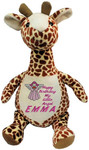 Personalised Message Bear - Long Neck Giraffe Hug-Me Cubby