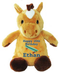 Personalised Message Bear - Horse Hug-Me Cubby