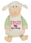 Personalised Oeko Lamb Cubby with any message on it